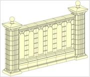 Забор,  секции