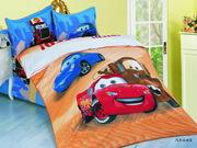 Детское постельное белье Love you с героями мультфильмов.