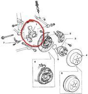 Кулак(цапфа)задняя правая на Toyota Camry CV-40