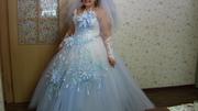 Продам свадебное платье,  перчатки и украшения для шампанского