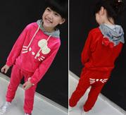 Велюровый детский костюм Hello Kitty для девочек