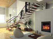Монолитные чугунные топки для воздушного отопления домов, дач, коттеджей