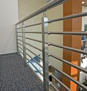 Перила алюминиевые: квадратный профиль  899гр. за м/п.