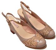 Туфли женские кожаные,  р-р 37,  новые,  бежевые,  пр-во Россия