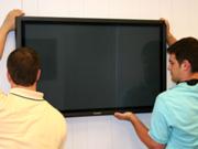 монтаж, навес и Установка телевизоров,  плазменных и LCD  креплением на стену.
