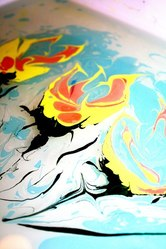 водная анимация,  эбру,  рисунки на воде