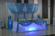 Оформление свадеб воздушными шарами,  драпировка свадебного зала тканью