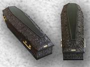 Гробы комбинированные и лак а также простые обитые тканью