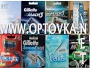 Купить кассеты,  бритвы,  станки  Gillette,  Orbit,  Sputnik