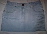Юбка джинсовая светлая,  р-р 42-44