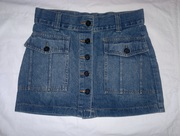 Юбка джинсовая с пуговицами,  р-р 42-44