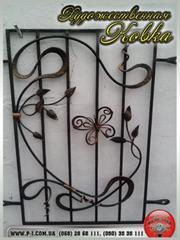 Кованые оконные решетки,  решетки на окна с коваными элементами