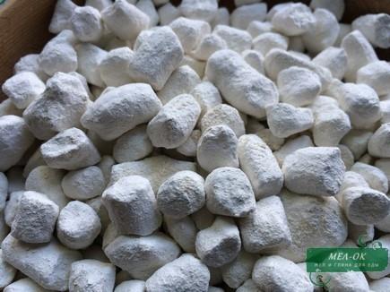Глина БЕЛАЯ натуральная каолин в гранулах,  пакет 1 кг