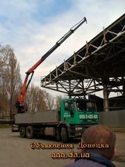 Услуги эвакуатора-кран-манипулятор в Донецке