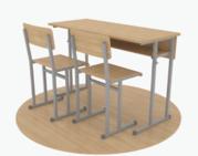 Школьная мебель, парты, стулья, лавки, шкафы