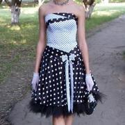 Продам платье  выпускное (чёрно белое)